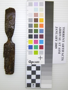 Bone brush from the Torrent shipwreck, Alaska State Museum collection