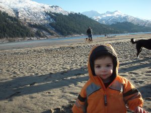 My son Carson at Sandy Beach, January 2009
