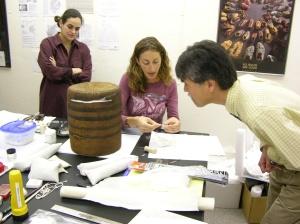 Molly Gleeson describes her technique to Bruce Kato