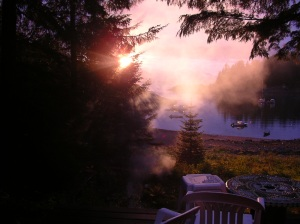 Sunrise at a friend's cabin, maybe 30 minute drive from my house.