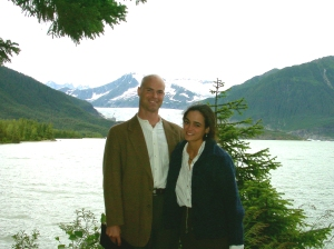 I married a conservator who was already here.  This picture is at Mendenhall Lake, 2001.