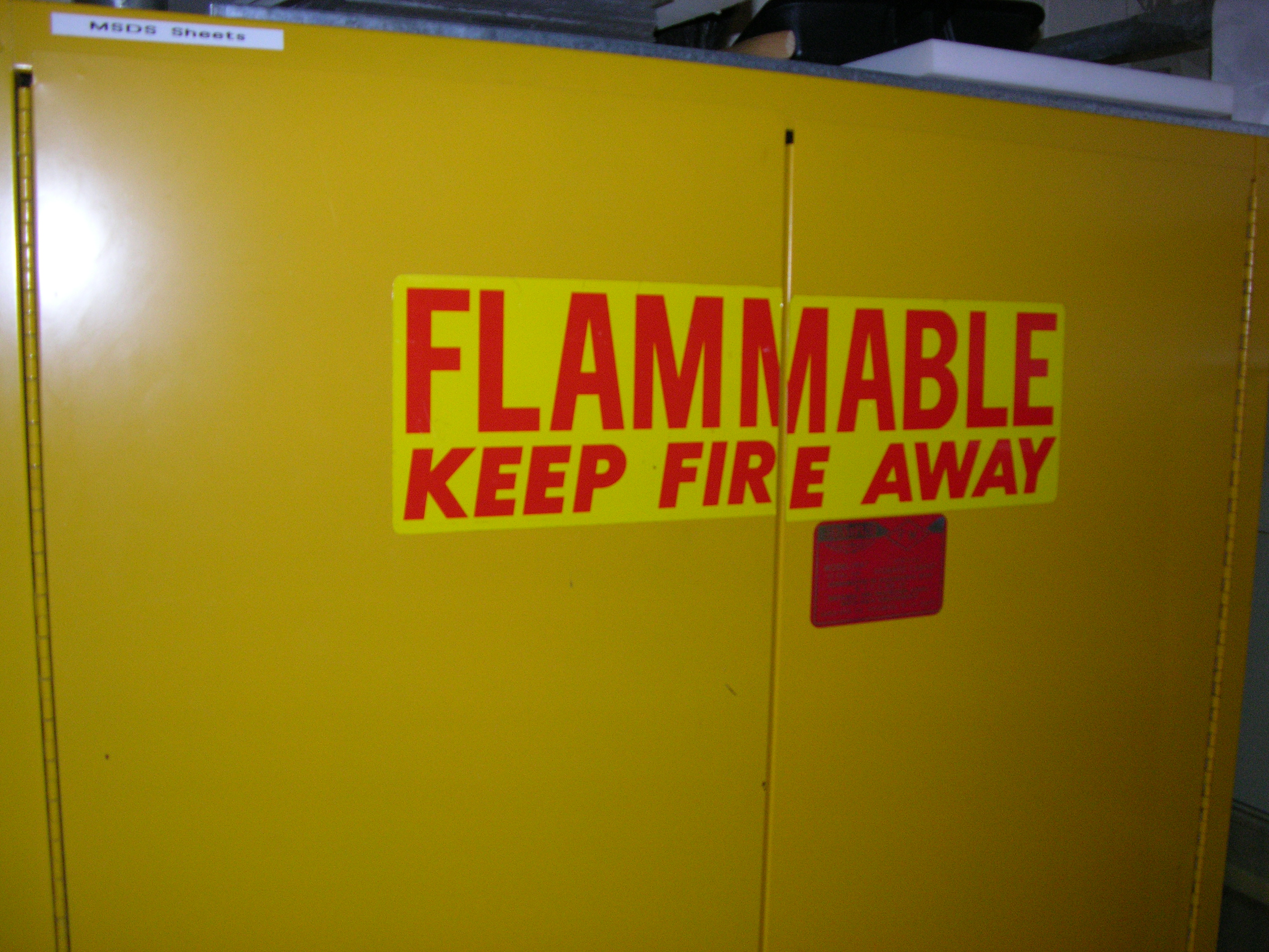 Yellow Flammable Cabinet Chemical Inventory Ellen Carrlee Conservation