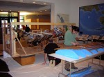 Exhibit designer Bob Banghart and conservator Ellen Carrlee worked in lockstep to support and preserve the fish trap.