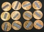 Adhesive testing on pennies