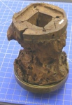Wheel hub after treatment with silicone oil