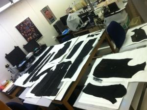 Shipwreck garments drying in lab