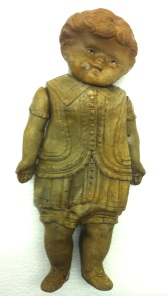 Doll, circa 1900, made of gutta percha or rubber