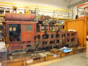 Baldwin locomotive in storage