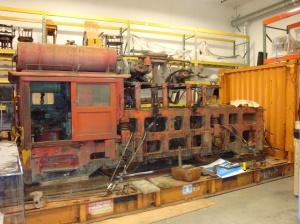 Baldwin locomotive in storage