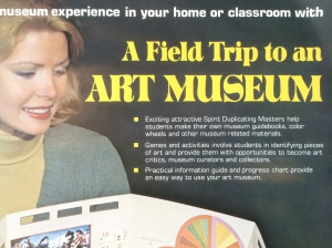 Art education and museology circa 1978