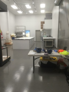 Here's the Collections Processing Room (CPR) where the layouts, photography, and incoming objects are dealt with.