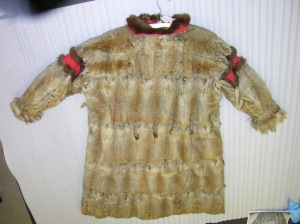 II-A-4944 Arctic Ground Squirrel Parka, lined with even more pelts.  This item will need a mannequin, and perhaps some stabilization at the shoulder seams.