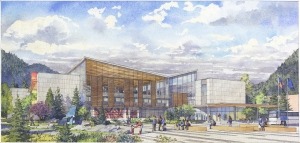 And here is an artist rendering from the architects of what the outside might look like...